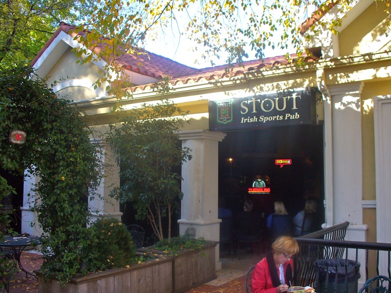 Stout irish sports pub