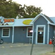 (Harrisonville, MO) Scooter's 952nd bar, first visited in 2012. Biker-friendly pizza pub featuring a thin Chicago-style pizza (I didn't know there even was such a thing, a bar in the...