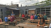 (Italian Village, Columbus, OH) Scooter's 1134th bar, first visited in 2016. Like the previous places, also a former service station. Food trucks out front. The indoor seating are was crowded...