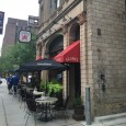 (Downtown, Minneapolis, MN) Scooter's 1149th bar, first visited in 2016. Nice German restaurant / beer hall with a small sidewalk patio. As we approached we noticed a number of people...