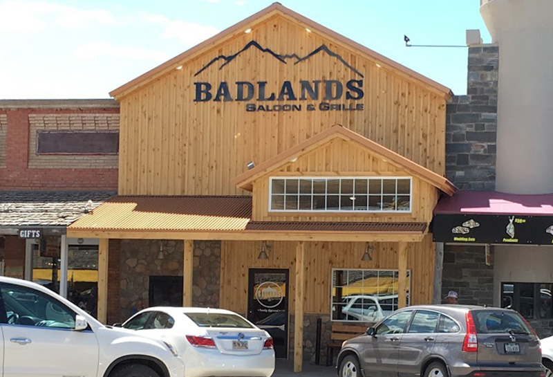 Badlands Saloon & Grille, Wall