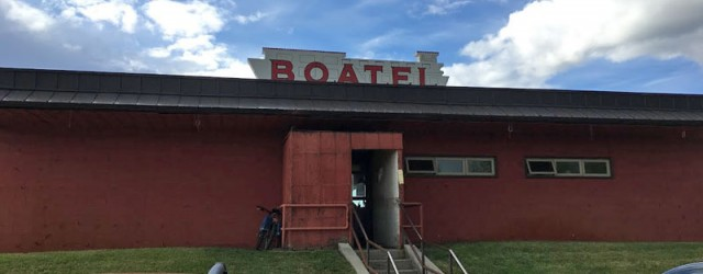 (Fairbanks, AK) Scooter's 1240th bar, first visited in 2018. There's a fireplace inside, and outside there's a stage and a deck overlooking the Chena River. I had a Hopothermia by...