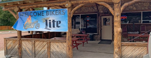 (Dayton, WY) Scooter's 1379th bar, first visited in 2019. We stopped in here specifically because we liked the name. A name that is also shared with a creek, a hiking...