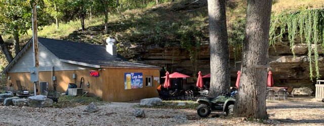 (Lanagan, MO) Scooter's 1408th bar, first visited in 2019. How's this for something different, a biker bar that's actually in a cave! My original plan was to eat lunch here,...